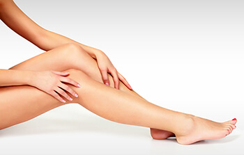 Woman With Smooth Legs Who Just Had Laser Hair Removal
